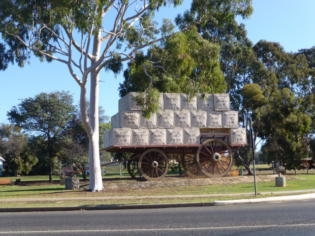 Centenary of Federation Wool Wagon on display at Kojonup