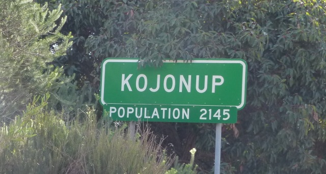 Kojonup town sign