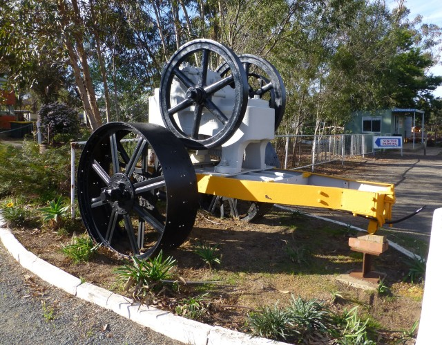 Old machinery at Kojonup Caravan Park