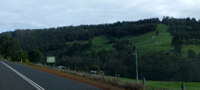 The view from the road between Bridgetown and Nannup