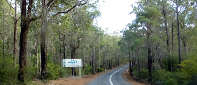 The Shire of Nannup lies ahead