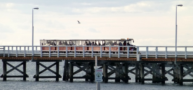 The Busselton Jetty Train in operation