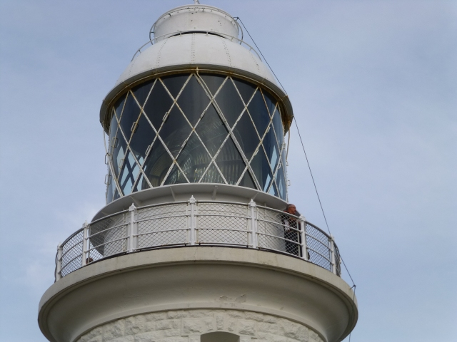 The original lens in the lighthouse made of Prism crystal driven by an electric motor