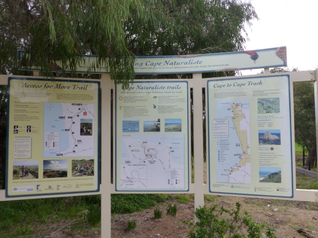 Descriptive signage at Naturaliste Lighthouse