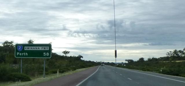 Perth just 58 kilometres away