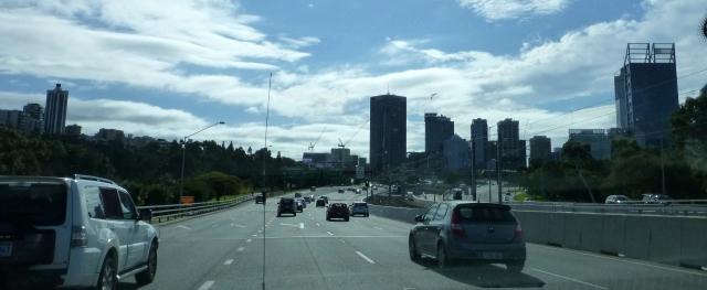 The Kwinana Freeway through Perth