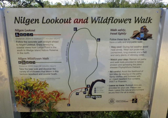 Signage at Nilgen Lookout