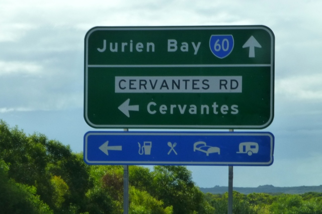 Cervantes - down here; Jurien Bay - keep going