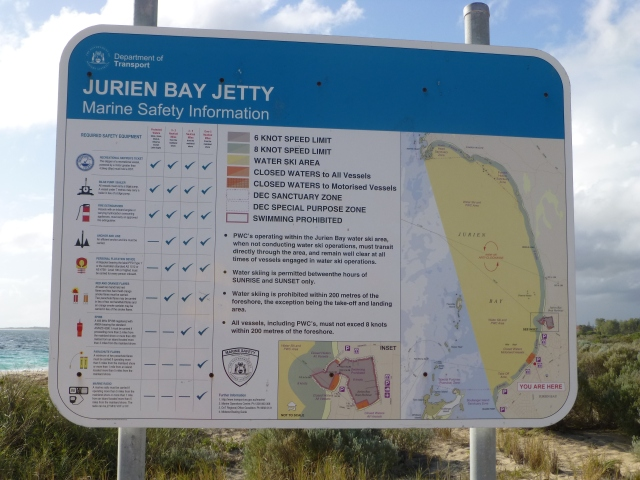 Jurien Bay Jetty Sign