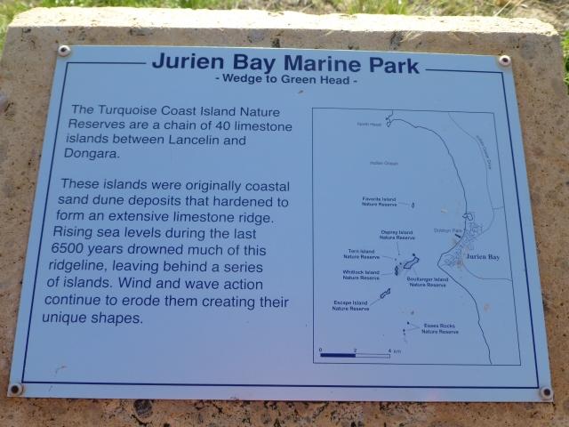 Jurien Bay Marine Park sign
