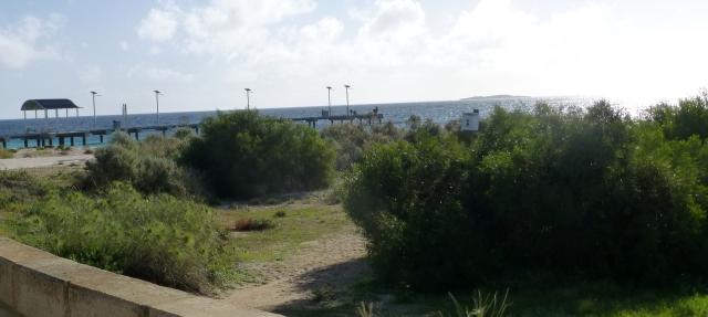 Looking toward the jetty at Jurien Bay