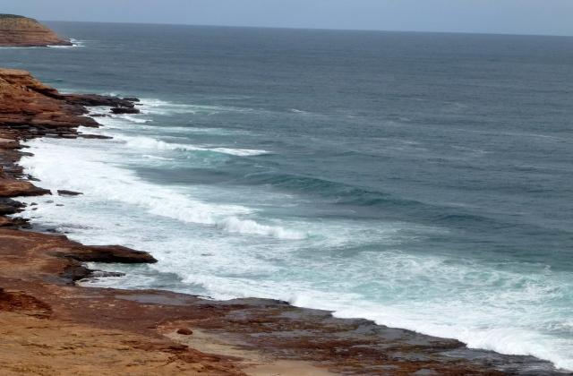 Coastline at Kalbarri below Red Bluff