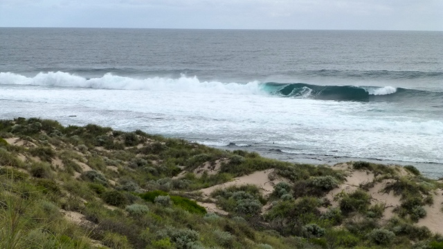 Wave action on the coast at Kalbarri
