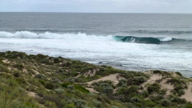 Wave action on the coast at Kalbarri