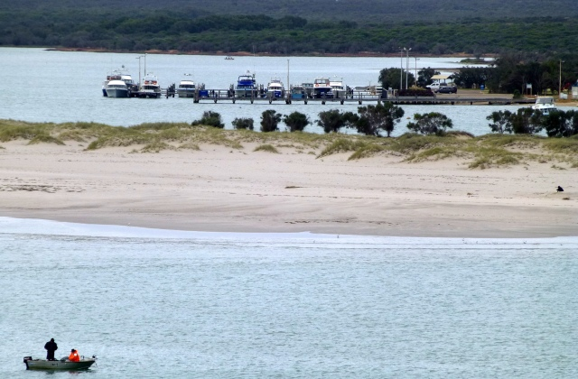 The anchorage on the Murchison River at Kalbarri