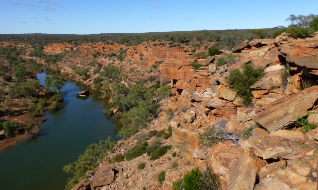 View of the Murchison River from Hawks Head Lookout