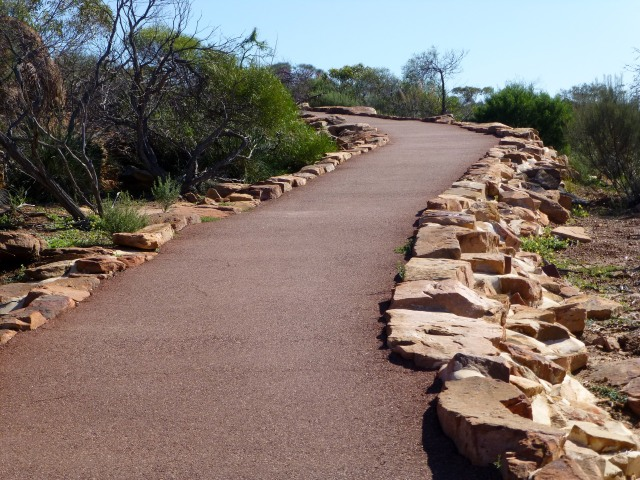 Access to Hawks Head Lookout is via this wheelchair friendly path