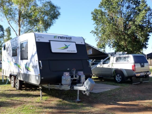 Our caravan site at Carnarvon