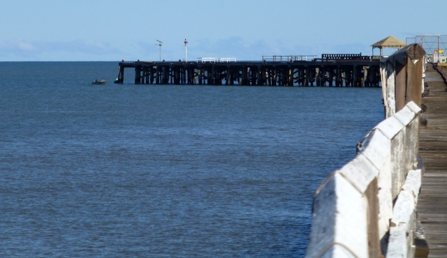 The end of the One Mile Jetty at Carnarvon - no public access to this part