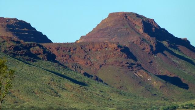 Paraburdoo mine workings in the distance