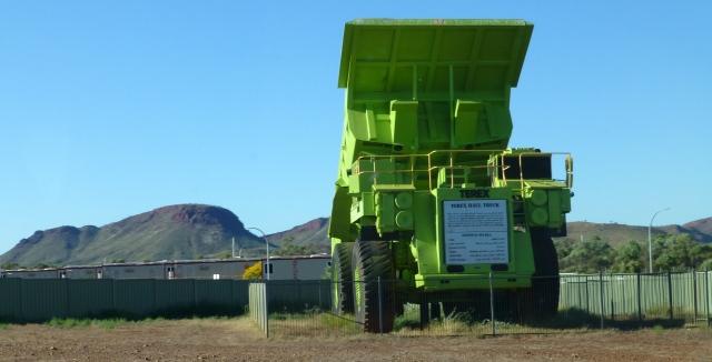 Dump truck monument at Paraburdoo