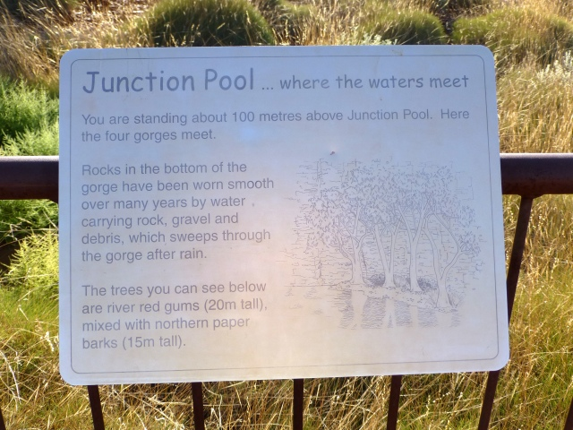Sign for Junction Pool at Oxer Lookout