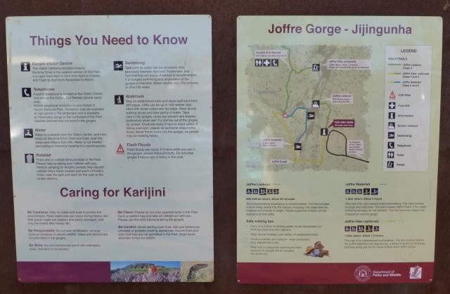Information sign at Joffre Gorge
