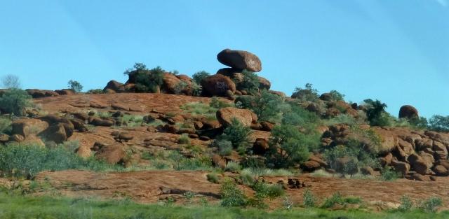 Balanced rocks along the road to Port Hedland