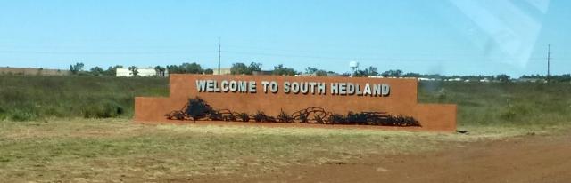 We have arrived at South Hedland