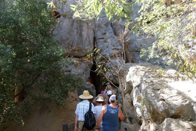Narrow entrance to Windjana Gorge