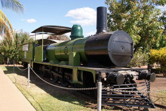 Old Steam Engine on display at Normanton Station