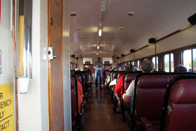Inside our carriage on the Gulflander