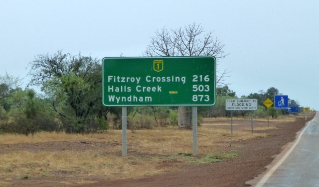 From this point its about 860 kms to Kununurra
