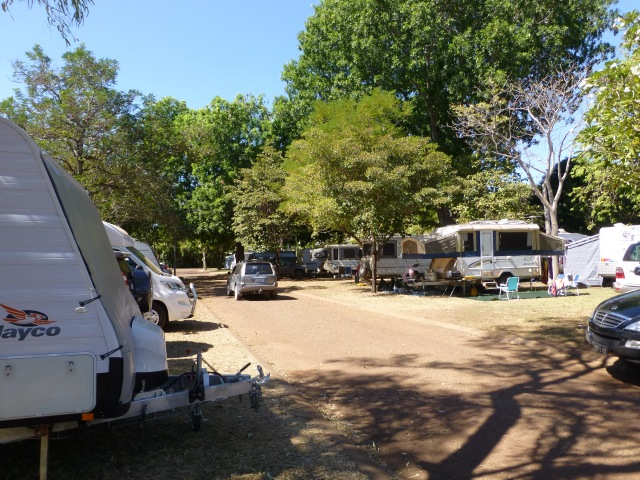 Shady caravan park at Kununurra