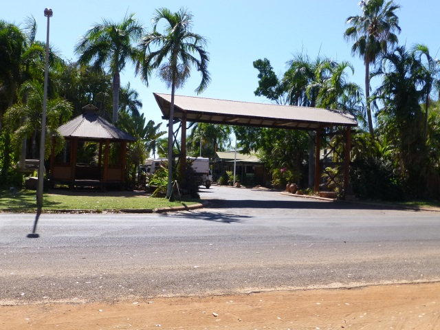 Entrance to the Caravan Park