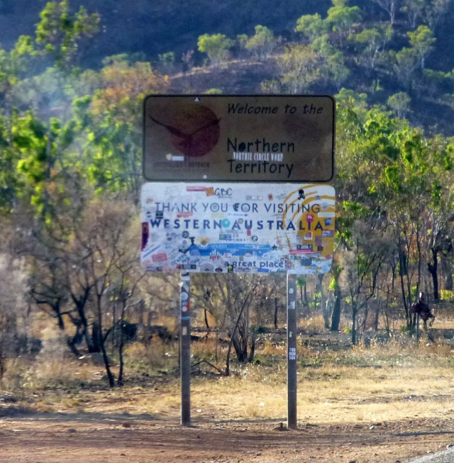 Welcome to the Northern Territory - the sign needs to be replaced