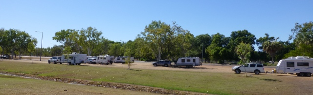 Caravans parked at the Visitor Centre at Katherine