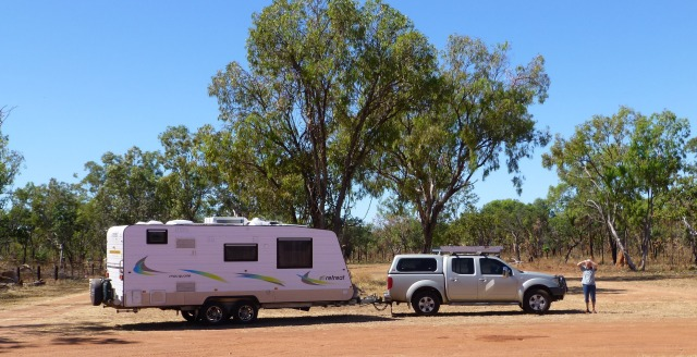 Caravan at Larrimah - our lunch stop
