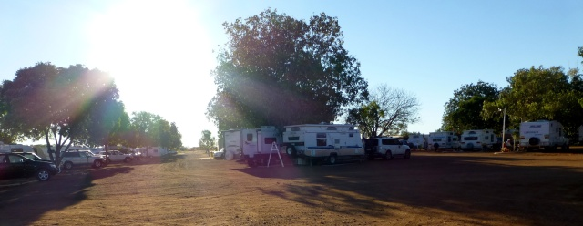Plenty of Caravans at Barkly Homestead