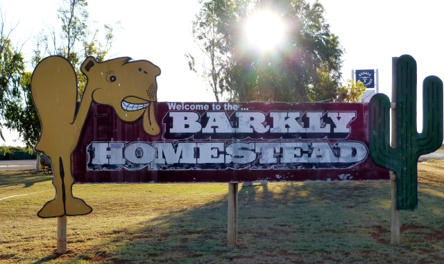 Sign at Barkly Homestead