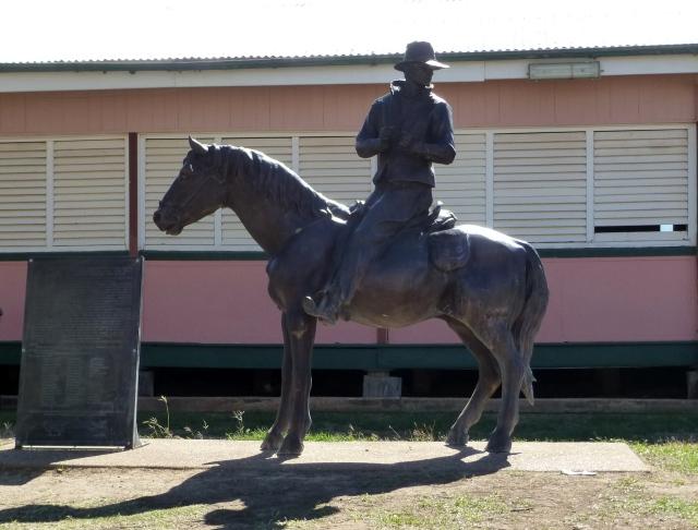 Sid Biondi Sculpture in Camooweal