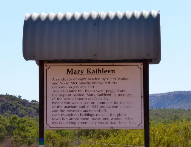 The entry point to Mary Kathleen