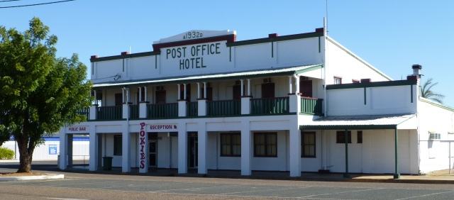 Post Office Hotel Cloncurry (opposite the Post Office)