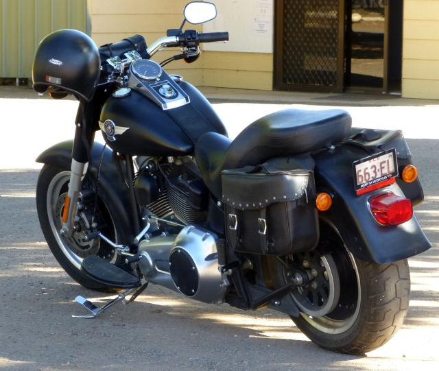 Cool motorbike at the caravan park