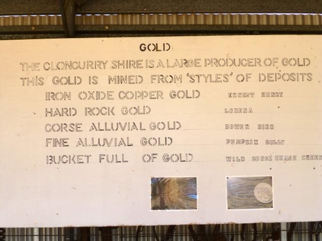 Gold around Cloncurry