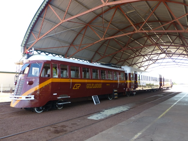 The Gulflander at Normanton Railway Station