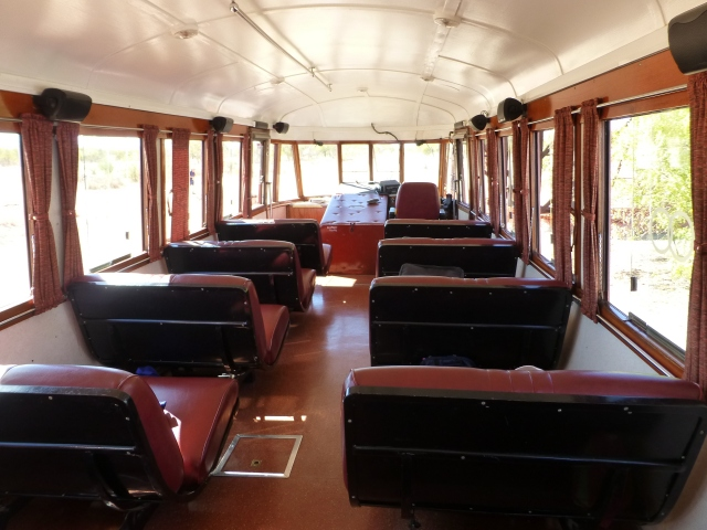 Inside the Gulflander Rail Motor