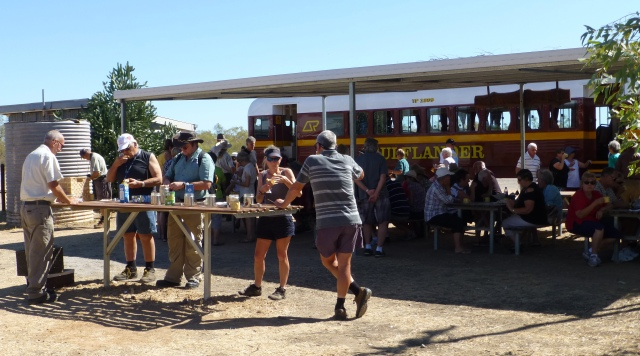 Morning Tea at Blackbull Siding