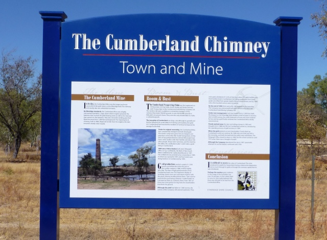 Sign providing details about The Cumberland Chimney site
