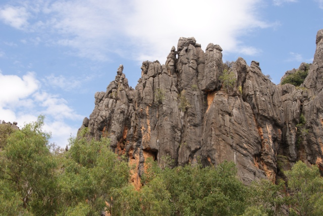 Striking landscape at Windjana Gorge